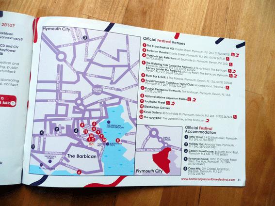 Barbican Jazz and Blues Festival Brochure Design