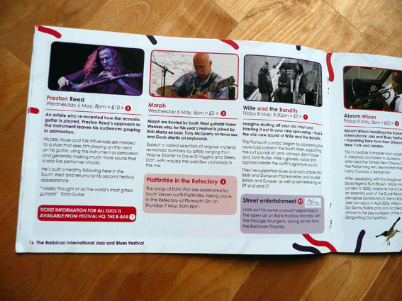Barbican Jazz and Blues Festival Brochure Design