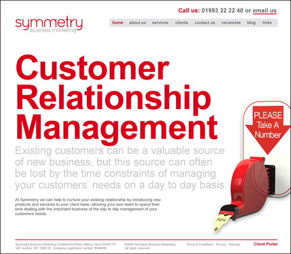 Symmetry Business Marketing Website design