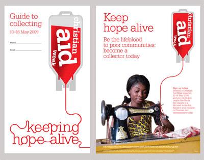 Christian Aid leaflet design