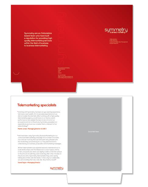 Business Marketing Folder