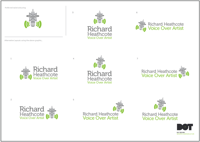 Richard Heathcote Voice Over Artist Logo Design