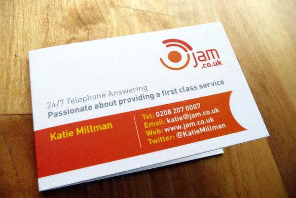 Design Work for JAM Telephone Answering