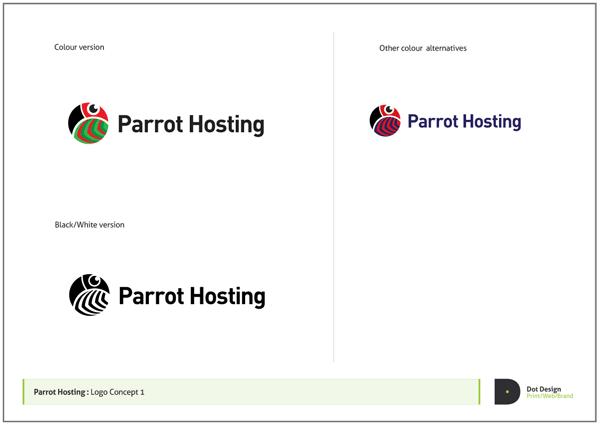 Logo Design Process – Parrot Hosting