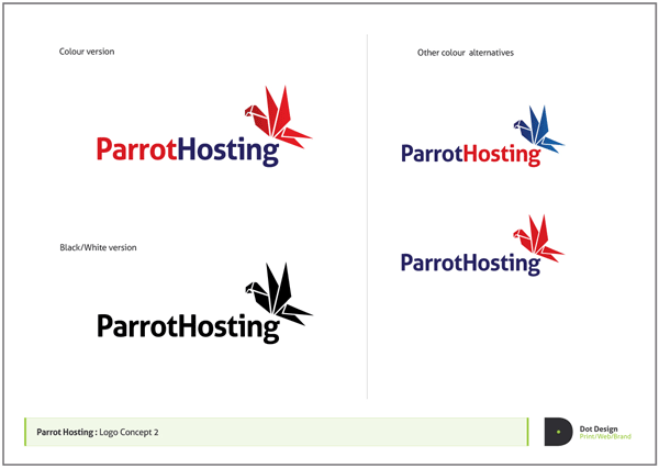 Logo Design Process – Parrot Hosting