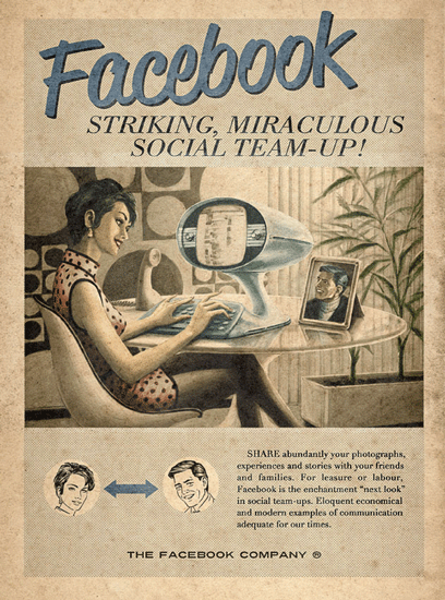 Social Media Advertising Posters - Vintage Style