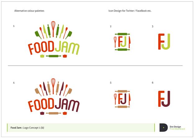 FoodJam Identity Design