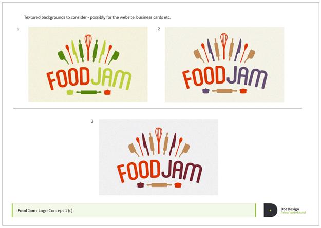 FoodJam Logo Design