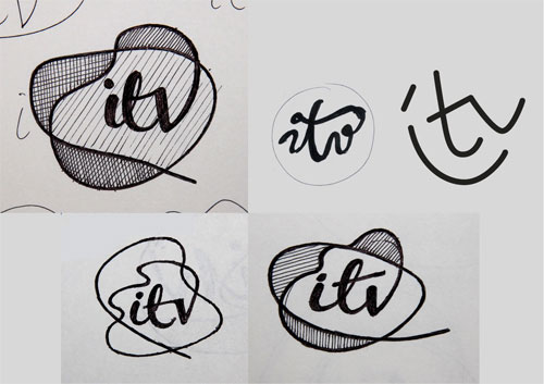 ITV Logo Design Sketches