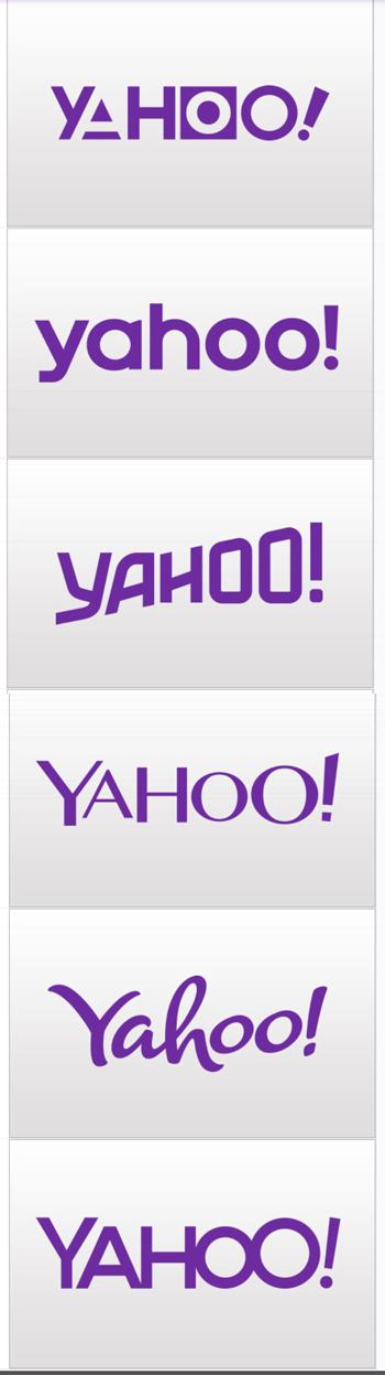 Yahoo logo designs